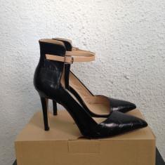 Pantofi Zara - Pantof dama Zara, Culoare: Negru, Marime: 38, Negru