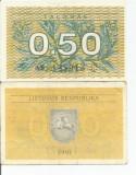 LL bancnota Lituania 0.50 talonas 1991 (#8913) AUNC