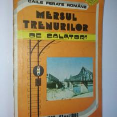 Mersul trenurilor de calatori - 29 mai 1988 / 27 mai 1989 - C.F.R. - Carti Transporturi