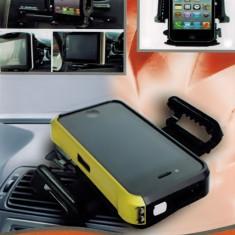 Suport auto pentru telefon cu sistem de prindere in aerisire