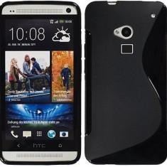 Husa HTC ONE MAX T6 TPU S-LINE Black - Husa Telefon HTC, Negru, Gel TPU, Fara snur, Carcasa