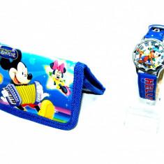 Set ceas de mana si portofel Mickey Mouse - Ceas copii Disney