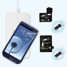 Incarcator wireless si receiver de birou Qi Samsung Galaxy S4 i9500 i9505 - Incarcator Telefon