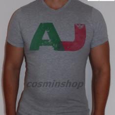 Tricouri ARMANI JEANS - AJ - Model NOU de Sezon - Alb / Bleumarin / Gri !!! - Tricou barbati Armani, Marime: S, M, L, XL, XXL, Maneca scurta, Bumbac