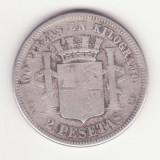 MONEDA DIN ARGINT SPANIA - 2 PESETAS 1869 - COTATIE RIDICATA
