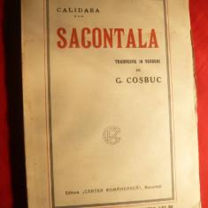 Calidasa -Sacontala -Poema Indiana -trad.G.Cosbuc, ilustratii semnate, cca.1920 - Carte mitologie