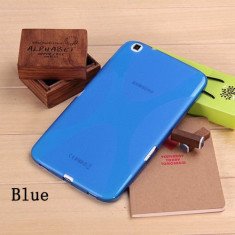 "Husa silicon albastra Samsung Galaxy Tab 3 8.0"" T310 T311 T315 - Husa Tableta, 8 inch"