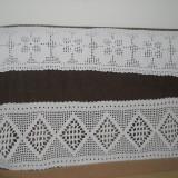 Set 2 buc mileuri crosetate manual, bumbac gros - tesatura textila