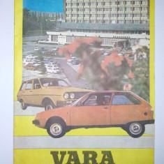 VARA, LA VOLAN - brosura editata de catre Inspectoratul general al militiei, directia circulatie, anii '80 - Revista vintage