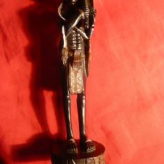 Statueta stil arta africana -Vanator - suvenir, h= 14, 5 cm - Bibelou