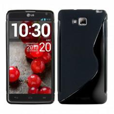 Husa LG Optimus L9 II D605 TPU S-LINE Black - Husa Telefon LG, Negru, Gel TPU, Fara snur, Carcasa
