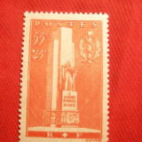 Serie-Pt.Monument -Gloria servicii medicale Ayon 1938 Franta, 1 val.