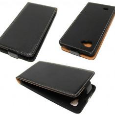 Husa LG Optimus 4X HD P880 Flip Case Slim Inchidere Magnetica Black - Husa Telefon LG, Negru, Piele Ecologica, Cu clapeta, Toc