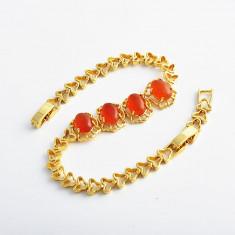 Bratara Coral dublu placata Aur 18k, model deosebit cod D568 - Bratara placate cu aur, Femei