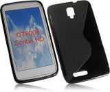 Husa Alcatel ONE TOUCH Scribe HD OT-8008D TPU S-LINE Black, Negru, Gel TPU, Carcasa