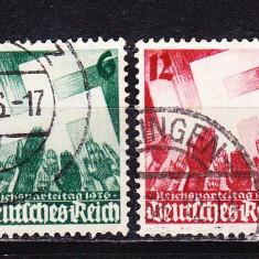 Timbre GERMANIA REICH 1936/* 632-633 = ZVASTICA SI MAINI RIDICATE, ST.
