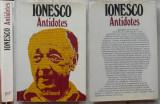 Eugen Ionescu , Eugene Ionesco , Antidotes ,1977, autograf catre Lucia Demetrius