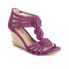 Sandale dama Kenneth Cole cedar leader purple suede, Culoare: Violet, Marime: 37