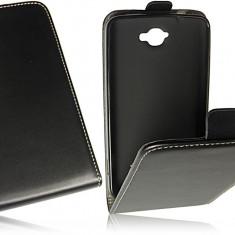 Husa Alcatel One Touch Scribe Easy OT-8000D Flip Case Inchidere Magnetica Black - Husa Telefon Alcatel, Negru, Piele Ecologica, Cu clapeta, Toc