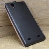 Husa SONY XPERIA T2 D5322 Flip Case Slim Inchidere Magnetica Black, Alt model telefon Sony, Negru, Piele Ecologica