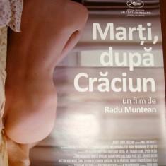 """AFIS ORIGINAL FILM """" Marti dupa Craciun """" - regia Radu Muntean"""