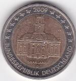 Germania 2 euro 2009 Saarland, A si D, ieftin, Europa