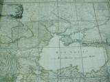 S. Delisle P.Buache Harta color Marea Neagra cu Ardealul, Valahia, Moldova, 1788