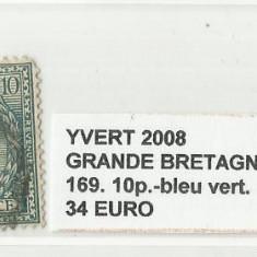 ANGLIA   1924  - 169.10.-BLEU VERT. STAMPILAT