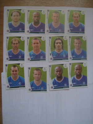 PANINI - Champions League 2009-2010 / Rangers (12 stikere) foto