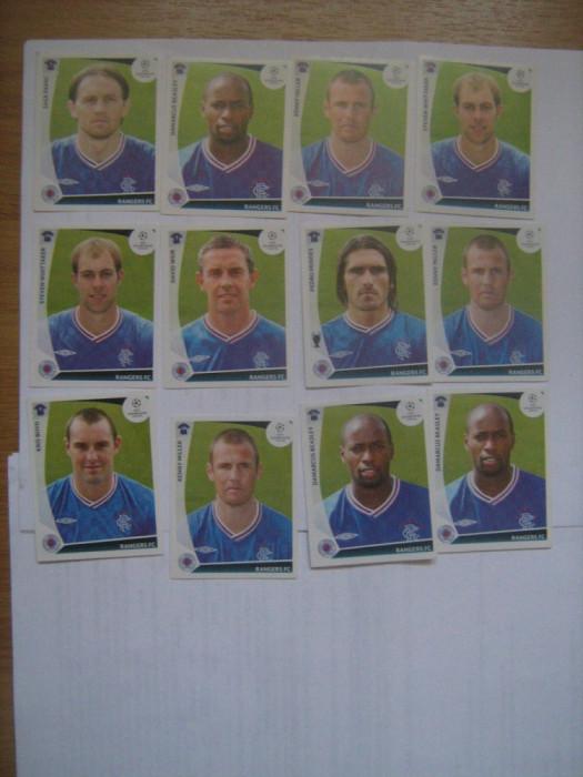 PANINI - Champions League 2009-2010 / Rangers (12 stikere)