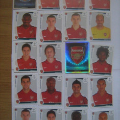 PANINI - Champions League 2009-2010 / Arsenal Londra (20 stikere)