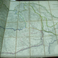 F. Fried Harta color Valahia, Moldova, Transilvania, Bucovina si Basarabia Viena 1866 - Harta Romaniei