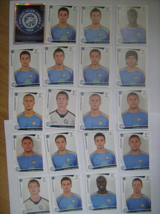 PANINI - Champions League 2009-2010 / Unirea Urziceni (20 stikere)
