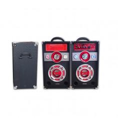SISTEM KARAOKE COMPUS DIN BOXE ACTIVE ,MIXER SI MP3 PLAYER INCLUS+2 MICROFOANE!