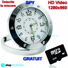 CEAS Metalic cu Camera Spion | Card 16GB | HD1280 | Senzor de miscare - SPY - Gadget supraveghere