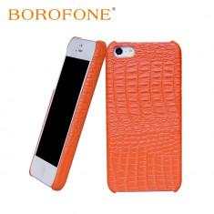 Husa piele BOROFONE Crocodile back cover, iPhone 5 / 5s aspect de piele crocodil - Husa Telefon Apple, Portocaliu