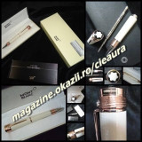 PIX OFFICE IVOIRE INSERIAT CUTIE FIRMA MONTBLANC made in GERMANY INOX PARKER