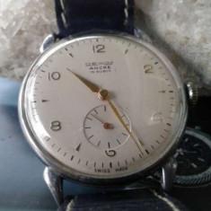 Ceas antic de mana Dexim - Ceas barbatesc, Lux - elegant, Mecanic-Manual, Inox, Piele, Analog