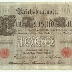 GERMANIA 1000 MARK MARCI 1910, stampila rosie, litera P [22]