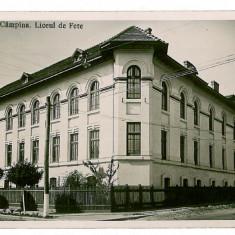228 - Prahova, CAMPINA, liceul de fete - old postcard, real PHOTO - unused - 1940