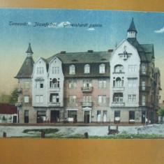 Carte postala Temesvar Jozsefvdros Gemeinhardt palota