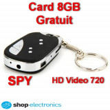 Camera Spion HD ascunsa in Breloc Telecomanda Auto SPY, Card 8GB GRATUIT!