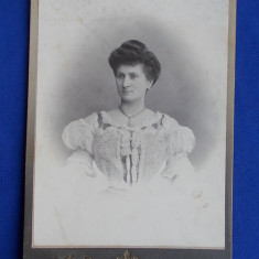 FOTOGRAFIE VECHE PE SUPORT DE CARTON * FOTO ALFRED BRAND,FOTOGRAFUL CURTEI REGALE SI CAVALER AL ORDINULUI SF-ul ALEXANDRU - SINAIA-PLOESCI - 1906