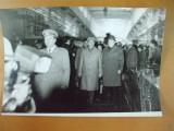 Fotografie vizita Nicolae Ceausescu la Uzinele Vulcan Bucuresti 12 mai 1977