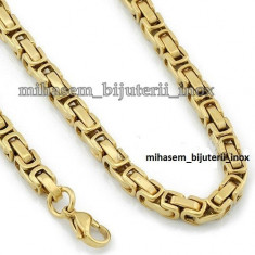 Lant INOX placat =50 ron - Lantisor placate cu aur