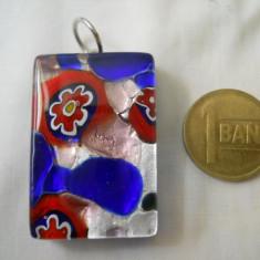 Splendid si Elegant Medalion Vintage Sticla de Murano - Pandantiv fashion