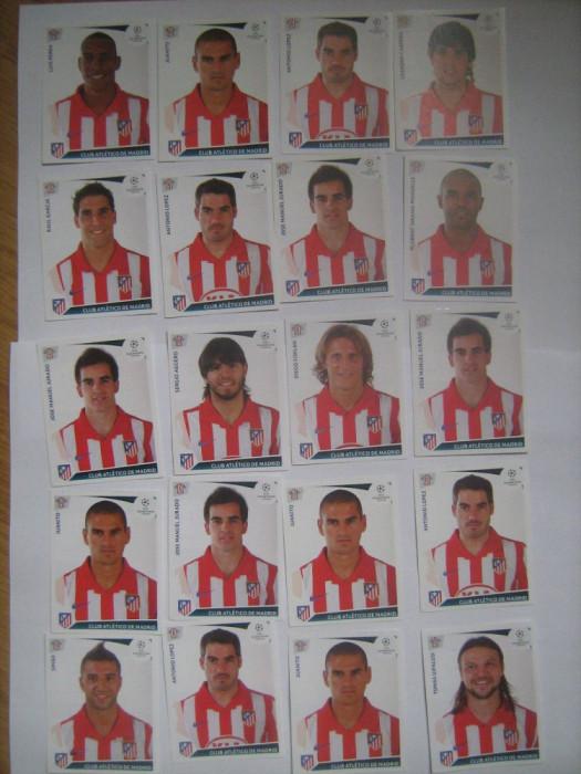 PANINI - Champions League 2009-2010 / Atletico Madrid (20 stikere)