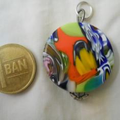 Superb Elegant si Vesel Medalion Sticla de Murano Vintage - Pandantiv fashion