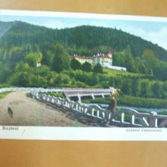 Carte postala Busteni castelul Cantacuzino Busteni 1933
