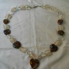 Superb si Elegant Colier Vintage Sticla de Murano - Colier fashion